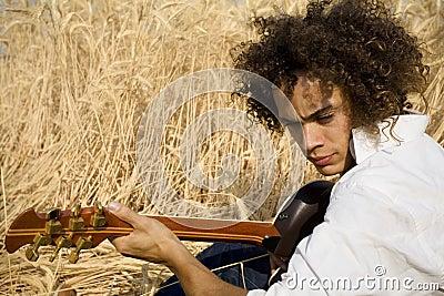 Playing guitar05