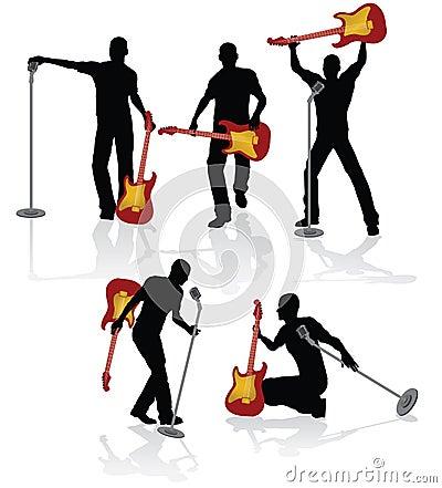 Playing guitarist