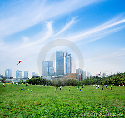 Free Playing In The Park At Weekend Stock Image - 19847351