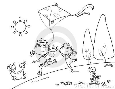 Playing with the kite