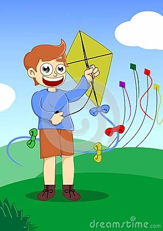 Free Playing Kite Royalty Free Stock Photo - 29096775