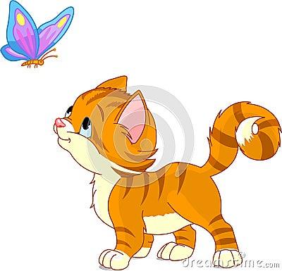 Free Playing Kitten Royalty Free Stock Image - 8700566