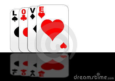 Playing with Love gaming cards standing