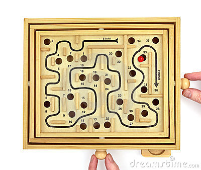Playing Maze Game