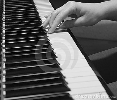Playing the old piano