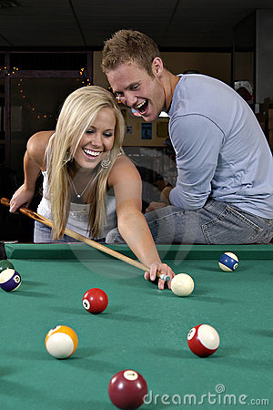 Free Playing Pool Stock Images - 1000994