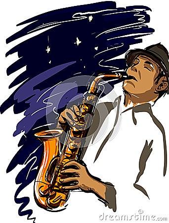Playing sax