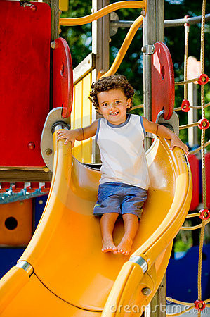Playing On Slide
