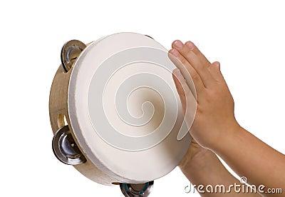 Playing the tambourine