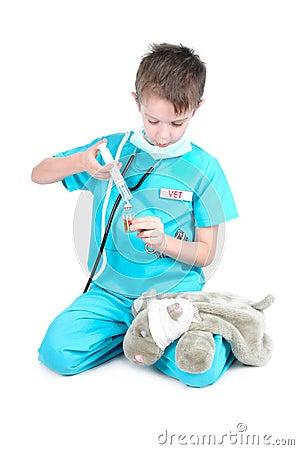 Playing veterinary