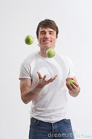 Free Playng With Apples Royalty Free Stock Photography - 2482887