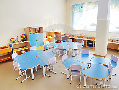 Playroom in a preschool
