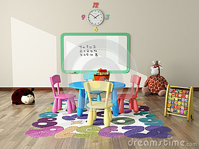 Playroom With Toys And Plush Stock Illustration Image