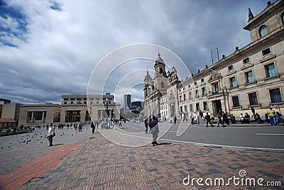 Plaza Bolivar - Bogota Editorial Image