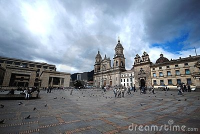 Plaza Bolivar - Bogota Editorial Stock Photo