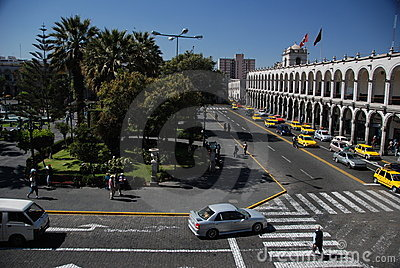 Plaza de Armas -  Arequipa,Peru Editorial Photography