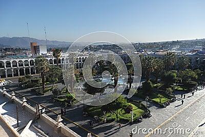 Plaza de Armas -  Arequipa,Peru Editorial Stock Image