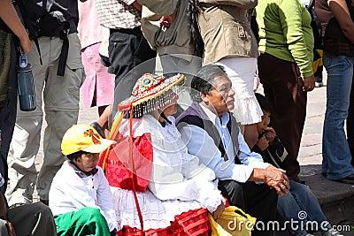 Plaza de Armas in Cusco city in Peru Editorial Image
