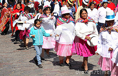 Plaza de Armas in Cusco city in Peru Editorial Stock Image