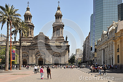 Plaza de Armas. Santiago de Chile. Editorial Stock Image