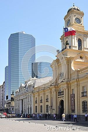 Plaza de Armas. Santiago de Chile. Editorial Stock Image