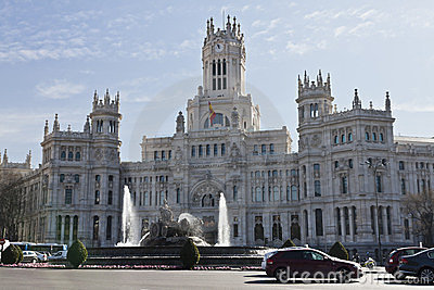 Plaza de Cibeles in Madrid Editorial Image