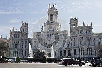 Plaza de Cibeles in Madrid Editorial Image