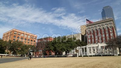 Plaza de Dealey em Dallas do centro TX vídeos de arquivo