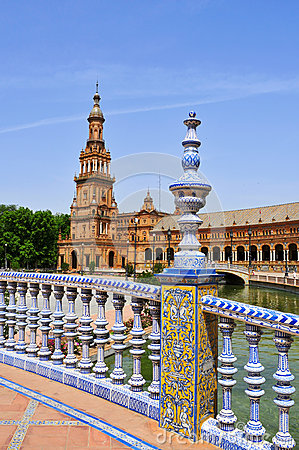Free Plaza De Espana, In Seville, Spain Stock Images - 26833144