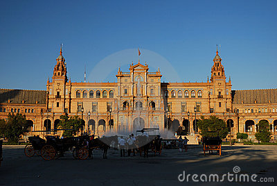 Plaza de Espana in Seville Editorial Stock Photo