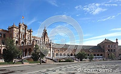 Plaza de Espana in Seville, Andalucia, Spain