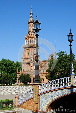Plaza de Espana, Seville, Span.