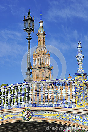 The Plaza de Espana (Spain Square), Seville, Spain