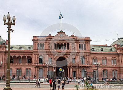 Plaza de Mayo Casa Rosada Facade Argentina Editorial Photo