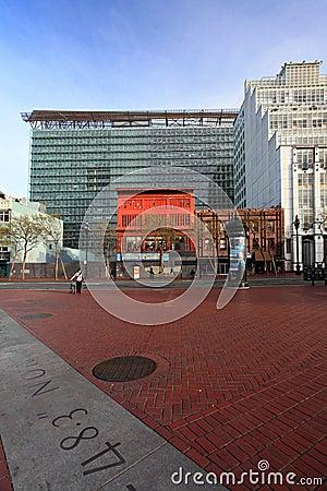 Plaza de Naciones Unidas, San Francisco Foto de archivo editorial