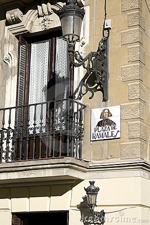 Free Plaza De Ramales Madrid Typical Sign Royalty Free Stock Images - 8498999