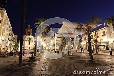 Plaza de San Juan de Dios, Cadiz Editorial Photo