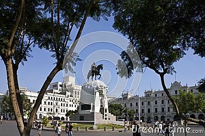 Plaza de San Martin - Lima - Peru Editorial Stock Image