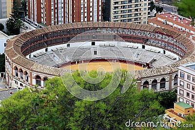 Plaza de Toros La Malagueta in Spanish Malaga
