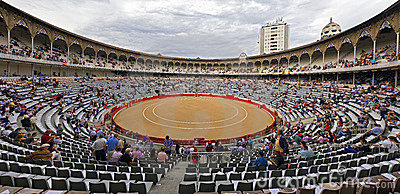 Plaza de Toros Monumental de Barcelona Spain Editorial Stock Image