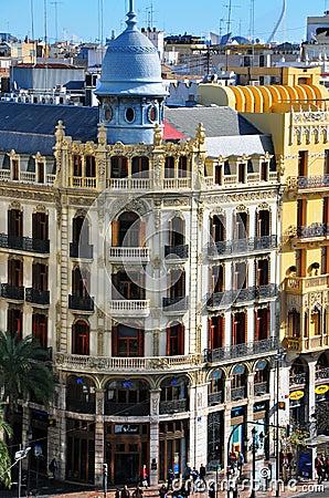 Plaza del Ayuntamiento, Valencia Editorial Photo