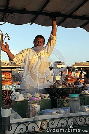 Plaza Djem el fnaa in Marrakech Editorial Photography