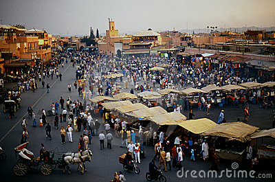 Plaza Djem el fnaa in Marrakech