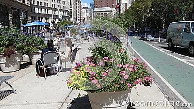 Plaza do público de New York City vídeos de arquivo