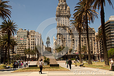 Plaza Independencia, Montevideo, Uruguay Editorial Photo