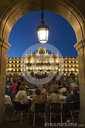 Plaza Major - Salamanca - Spain Editorial Photography