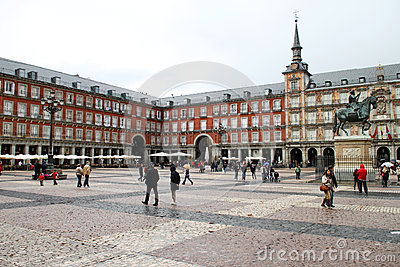 Plaza Mayor Editorial Stock Image