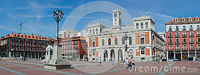Plaza Mayor and the city hall Editorial Stock Image