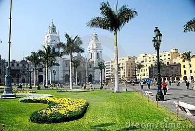 Plaza Mayor in Lima, Peru Editorial Stock Image