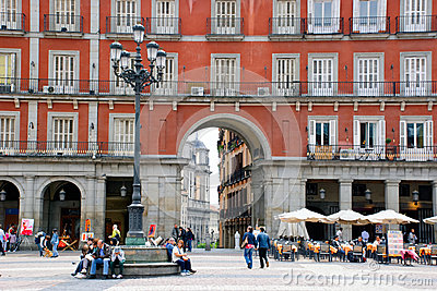 Plaza Mayor, Madrid Editorial Photography
